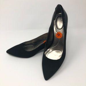 "Bandolino ""Adderley"" black suede leather heel"